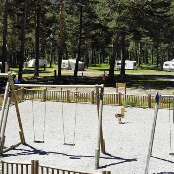 Aire de jeu pour enfants © Camping Montgenèvre