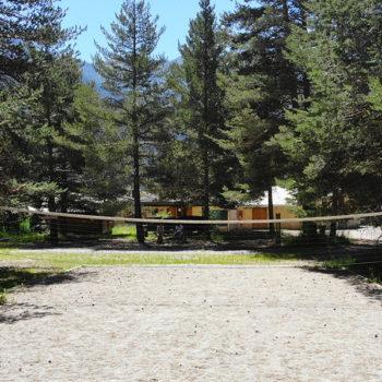 Terrain de volley © Camping de Montgenèvre