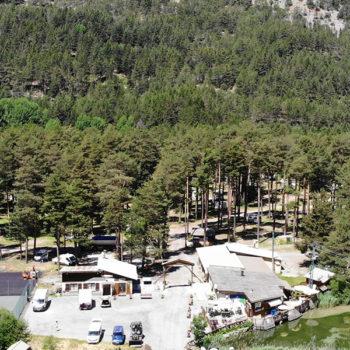 Vue aérienne du camping © Camping de Montgenèvre